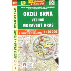 SHOCart 452 Okolí Brna východ, Moravský Kras 1:40 000 turistická mapa
