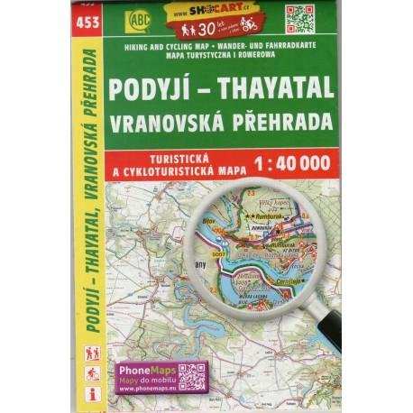 SHOCart 453 Podyjí - Thayatal, Vranovská přehrada 1:40 000 turistická mapa