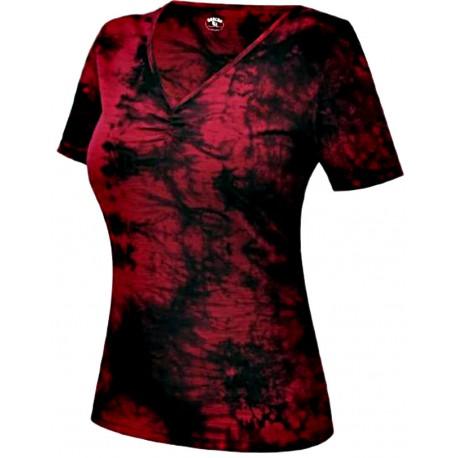 Jitex BoCo Kadata 801 TSX červená/černá dámské triko krátký rukáv Merino vlna