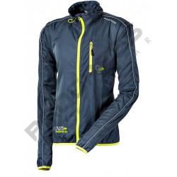 Progress Aero Run tmavě šedá/žlutá unisex lehká bunda/vesta