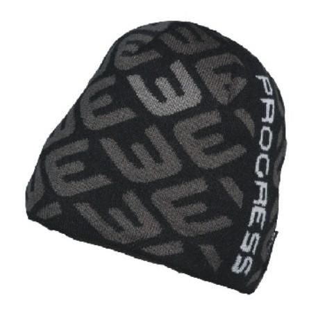 Progress Hump černá/šedá unisex pletená čepice