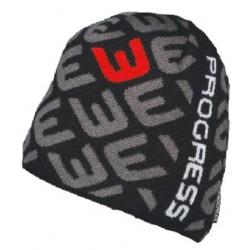 Progress Hump černá/šedá/červená unisex pletená čepice