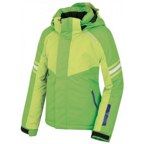 Husky Lory zelená dětská nepromokavá zimní lyžařská bunda Aquablock Plus