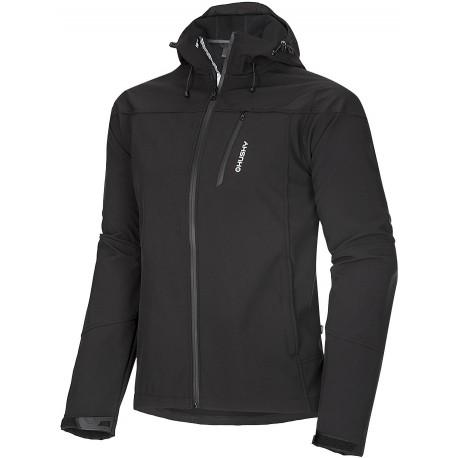 Husky Apeli M černá pánská softshellová bunda Extend-Plus Softshell 10000