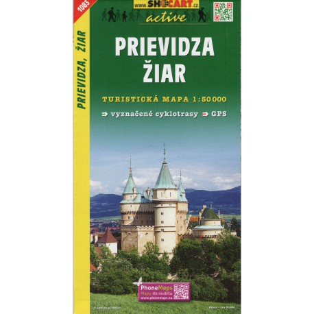SHOCart 1083 Prievidza, Žiar 1:50 000