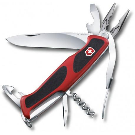 Victorinox RangerGrip 74 červená/černá 0.9723.C švýcarský kapesní multifunkční nůž