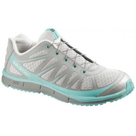 Salomon Kalalau W light grey/topaz blue 373257 dámské nízké prodyšné boty