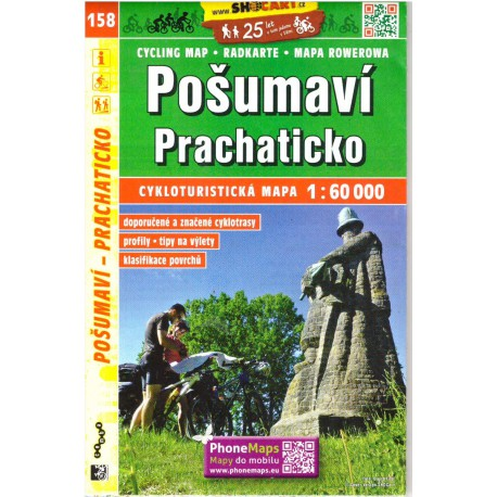 SHOCart 158 Pošumaví, Prachaticko 1:60 000