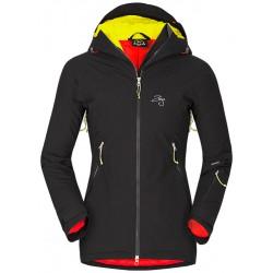 Zajo Nuuk Lady JKT černá dámská nepromokavá zimní lyžařská bunda Sympatex/Primaloft