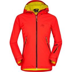 Zajo Nuuk Lady JKT červená dámská nepromokavá zimní lyžařská bunda Sympatex/Primaloft