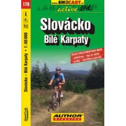 SHOCart 170 Slovácko, Bílé Karpaty 1:60 000 cykloturistická mapa