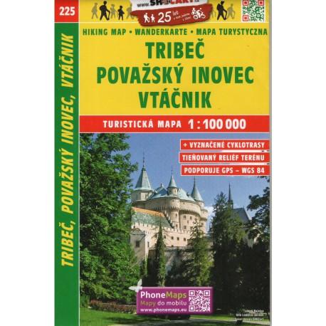 SHOCart 225 Tribeč, Považský Inovec, Vtáčnik 1:100 000