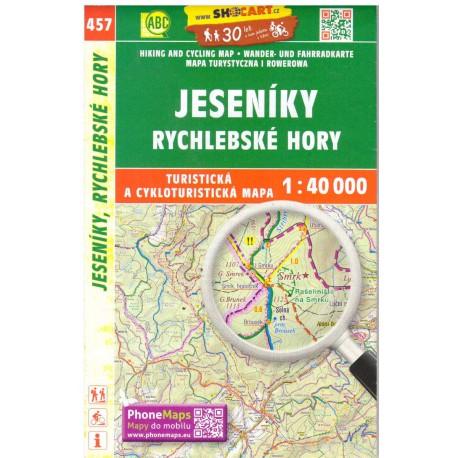 Shocart 457 Jeseníky, Rychlebské hory 1:40000