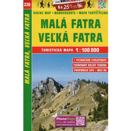 SHOCart 226 Malá Fatra, Vel'ká Fatra 1:100 000