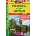 SHOCart 227 Podunajsko - západ, Bratislava 1:100 000 turistická mapa
