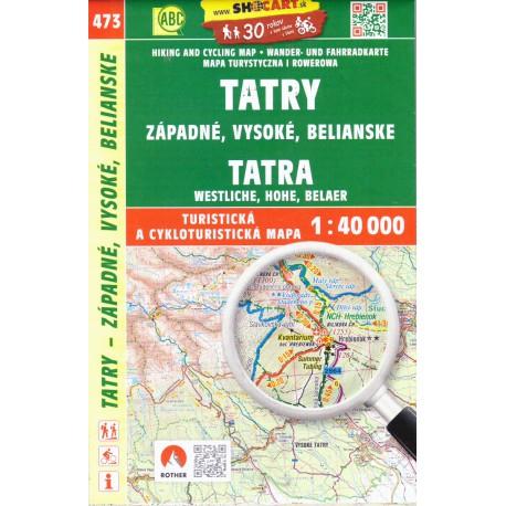 SHOCart 4097 Tatry - Západné, Vysoké, Belianske 1:40 000 turistická mapa