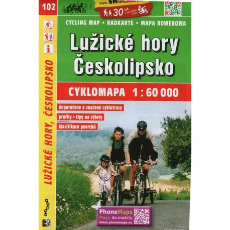 SHOCart 102 Lužické hory, Českolipsko 1:60 000