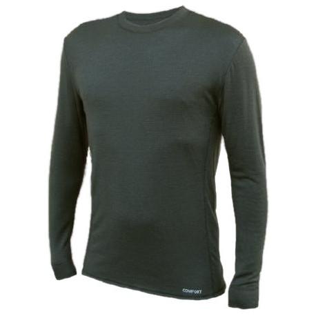 Jitex BoCo Kven 930 THS tmavě khaki pánské triko dlouhý rukáv Merino vlna