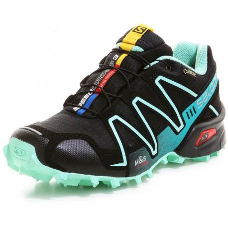 Salomon Speedcross 3 GTX W black/lucite green 381564 dámské nepromokavé běžecké boty