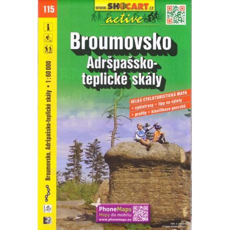 SHOCart 115 Broumovsko, Adršpašsko-teplické skály 1:60 000