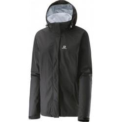 Salomon Elemental AD Jacket W black 375010 dámská nepromokavá bunda