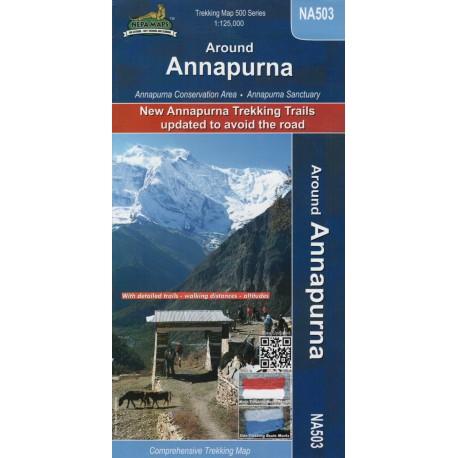Nepa maps Around Annapurna 1:125 000