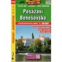 SHOCart 126 Posázaví, Benešovsko 1:60 000 cykloturistická mapa