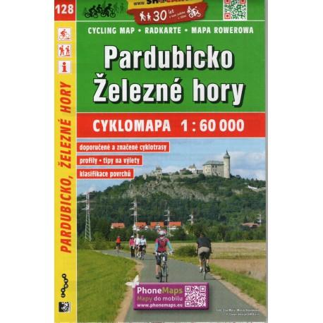 SHOCart 128 Pardubicko, Železné hory 1:60 000