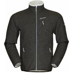 High Point Graven Wool dark grey/grey zip pánský větruodolný vlněný svetr Tecnowool/NoWind