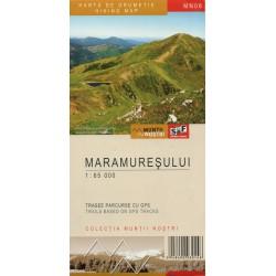 Schubert a Franzke MN08 Maramuresului 1:65 000 turistická mapa