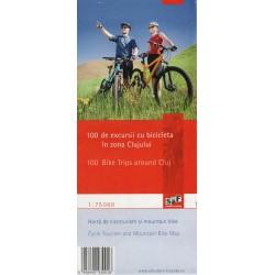 Schubert a Franzke 100 Bike Trips Around Cluj 1:75 000 cykloturistická mapa