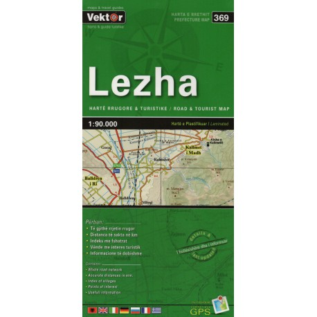 Vektor 369 Albánie Lezha 1:90 000 automapa