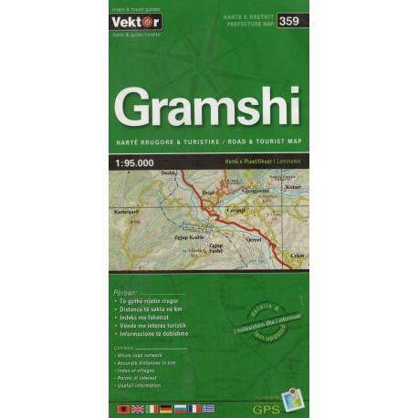 Vektor 359 Albánie Gramshi 1:95 000 automapa