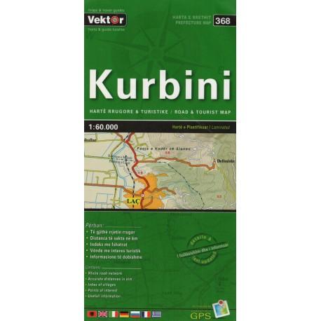 Vektor 368 Albánie Kurbini 1:60 000 automapa