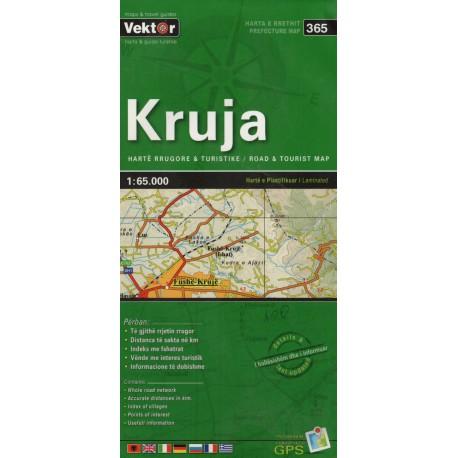 Vektor 365 Albánie Kruja 1:65 000 automapa