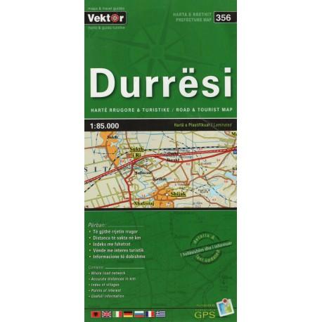 Vektor 356 Albánie Durrësi 1:85 000 automapa
