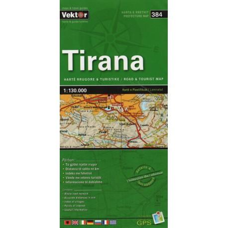 Vektor 384 Albánie Tirana 1:130 000 automapa