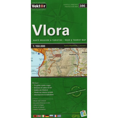 Vektor 386 Albánie Vlora 1:150 000 automapa