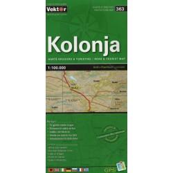 Vektor 363 Albánie Kolonja 1:100 000 automapa