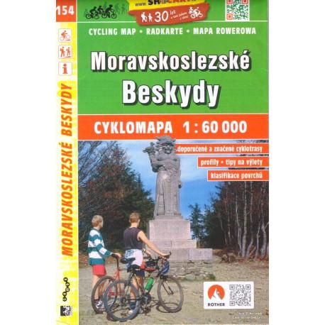 SHOCart 154 Moravskoslezské Beskydy 1:60 000