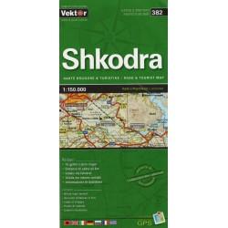Vektor 382 Albánie Shkodra 1:150 000 automapa