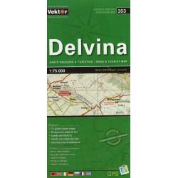 Vektor 353 Albánie Delvina 1:75 000 automapa