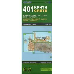ORAMA 401 Kréta Kissamos, Paleochora, Gavdos, Chania, Kolimvari 1:50 000 turistická mapa