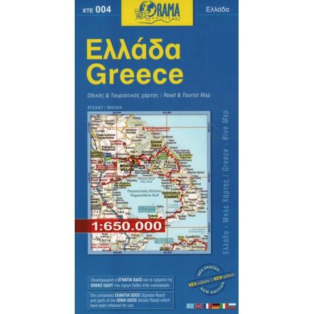 ORAMA 004 Řecko 1:650 000 automapa