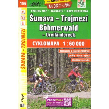 SHOCart 156 Šumava, Trojmezí 1:60 000