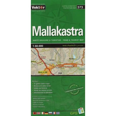 Vektor 373 Albánie Mallakastra 1:60 000 automapa