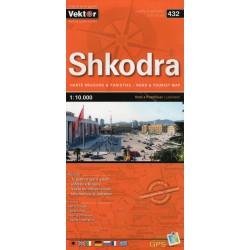 Vektor 432 Albánie Shkodra/Skadar 1:10 000 plán města