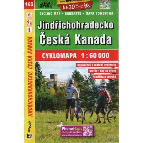 SHOCart 163 Jindřichohradecko, Česká Kanada 1:60 000