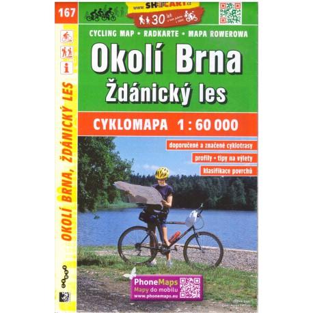 SHOCart 167 Okolí Brna, Ždánický les 1:60 000