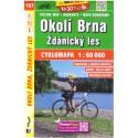 SHOCart 167 Okolí Brna, Ždánický les 1:60 000 cykloturistická mapa